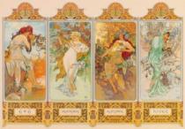 ZDEKO / TREFL 2000 dílků - Alfons Mucha, Roční období, 1896