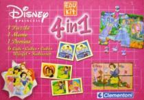 CLEMENTONI Soubor her 4v1 Disney Princezny (puzzle, kostky, pexeso, domino)
