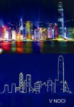 DINO Svítící 1000 dílků - Hong Kong