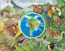 LARSEN 90 dílků - Zvířata Jižní Ameriky