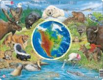 LARSEN 90 dílků - Zvířata Severní Ameriky