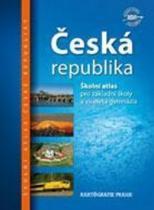 Kartografie PRAHA Česká republika Školní atlas
