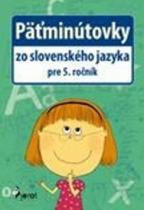 Pierot Päťminútovky zo slovenského jazyka pre 5. ročník