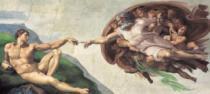 CLEMENTONI 13200 dílků - Michelangelo, Stvoření Adama