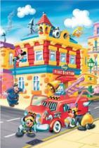 TREFL 24 dílků - Mickey Mouse: Požární stanice