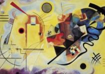CLEMENTONI 1000 dílků - Wassily Kandinsky, Žlutá, červená, modrá