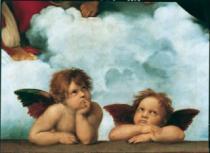 CLEMENTONI 1000 dílků - Raffaello, Sixtinská Madonna (detail)