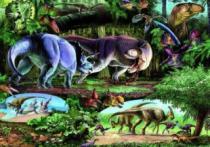 DINO 500 dílků - Země dinosaurů