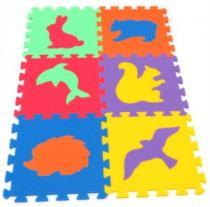 MALÝ GÉNIUS Zvířata divoká 30x30cm, 16mm - , 6 barev