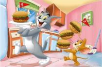 TREFL 24 dílků - Tom a Jerry: Vydatná snídaně