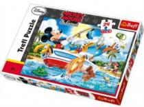 TREFL 24 dílků - Mickey Mouse a přátelé: Na rybách