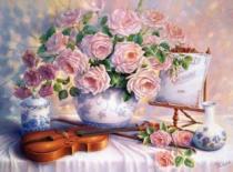 CASTORLAND 3000 dílků - T.Hardwick, Růže a housle