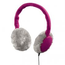 Hama klapky na uši se sluchátky a mikrofonem, pletené