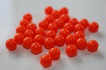Akrylové korálky oranžové 8mm 10ks