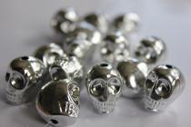 Lebka stříbrná 18x14x16 mm