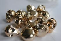 Lebka zlatá 18x14x16 mm