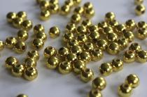 Zlaté korálky 10ks 8mm