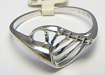 Dámský celozlatý prsten z bílého zlata 585/1,42gr P359