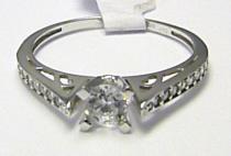Holan Jaroslav Zásnubní luxusní prsten z bílého zlata posetý zirkony 585/1,90gr H349