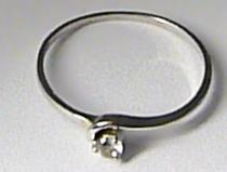 Zlatokov Zlatý zásnubní prsten z bílého zlata se zirkonem 585/0,92gr Z084