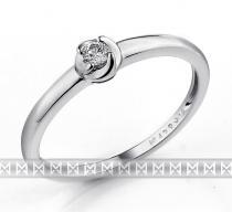 Pretis Zásnubní dámský zlatý prsten z bílého zlata s diamantem briliant 1,5gr 0,06ct