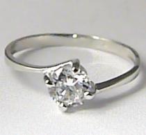 Zlatokov Zásnubní prsten z bílého zlata s velkým zirkonem 585/1,22gr Z087