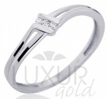 Pretis Dámský zásnubní prstýnek z bílého zlata se třemi zirkony 585/1,27gr P536