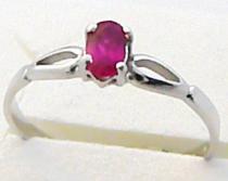 Pretis Zásnubní prstýnek z bílého zlata s rubínem 585/1,22gr P469
