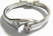 Pretis Dámský zlatý prstýnek z bílého zlata se zirkony 585/1,55gr P194