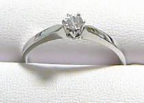 Pretis Silný pevný zlatý prstýnek z bílého zlata a zirkonem 585/1,62gr P196