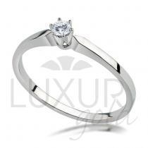 Pretis Zásnubní prsten bílé zlato se zirkonem 1860271-0-49-1