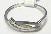 Pretis Dámský prsten z bílého zlata se zirkony 2ks 585/1,02gr P367