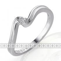 Pretis Zásnubní diamantový prsten s bílým diamantem z bílého zlata