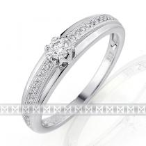 Pretis Luxusní diamantový prsten posázený mnoha diamanty 27ks