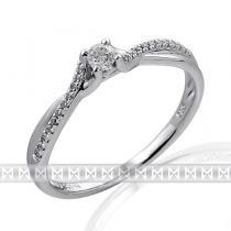 Pretis Luxusní dámský zlatý prsten posázený mnoha diamanty z bílého zlata