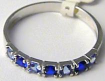 Pretis Dámský luxusní prsten z bílého zlata se safíry a topazy 585/1,65gr P419