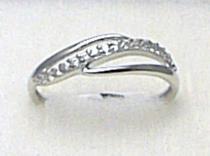 Holan Jaroslav Luxusní mohutný prsten z bílého zlata se zirkony 15ks 585/1,40gr H247