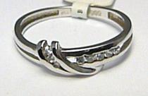 Pretis Dámský zlatý prsten z bílého zlata s osmi zirkony 585/1,65gr P385