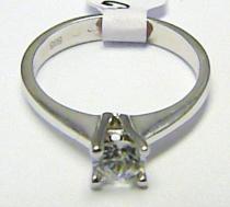 Holan Jaroslav Mohutný zásnubní velký prsten s centrálním zirkonem 585/2,69gr H350
