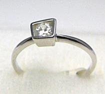 Pretis Luxusní zásnubní prsten z bílého zlata se zirkonem 585/1,60gr P389