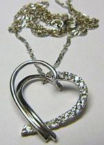 Marcello Diamant Luxusní souprava z bílého zlata s mohutným srdcem se zirkony 45cm 585/2,7gr T071