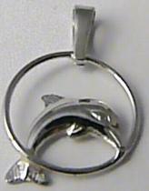 Zlatokov Zlatý delfín přívěsek z bílého zlata 585/0,57gr Z100