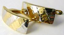 Holan Jaroslav Luxusní mohutné velké zlaté náušnice z dvojího zlata 585/1,69gr H450