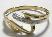 Pretis Zlatý luxusní prsten z bílého a žlutého zlata 585/1,87gr
