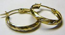 Pretis Luxusní velké zlaté kruhy z dvojího zlata bílé a žluté 585/1,22gr P150
