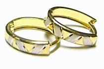 Pretis Luxusní dámské zlaté kruhy z dvojího zlata bíléxžluté 585/1,0gr P161