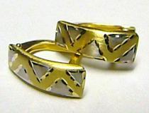 Pretis Luxusní mohutné zlaté dámské náušnice kombinace AU 585/1,35gr P163