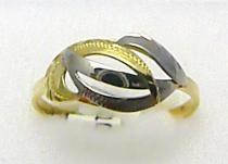 Holan Jaroslav Mohutný luxusní prsten z kombinace žlutého a bílého zlata 585/1,95gr H236