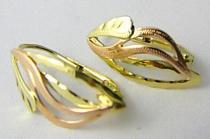Pretis Zlaté klasické náušnice z dvojího zlata 585/1,75gr P457