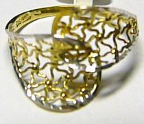 Pretis Luxusní mohutný obrovský zlatý prsten z bílého a žlutého zlata 585/1,4g/57 P166